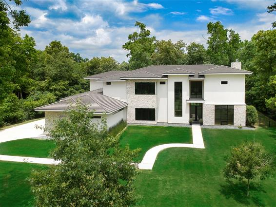 elevated photography of Katy, TX home with drone